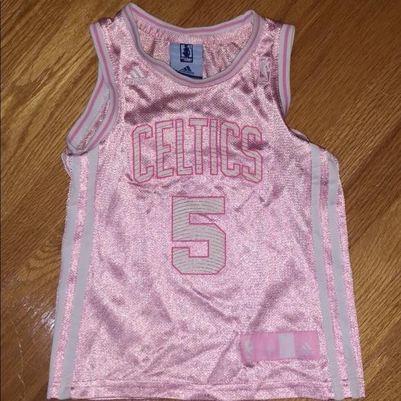 timeless design f412d 7349d Baby girl pink Celtics jersey